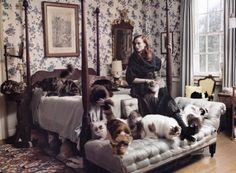 Karen Elson photographed by Tim Walker for Vogue (September 2005).