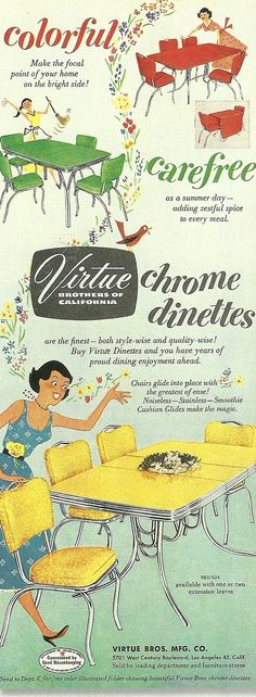 1950s dining sets