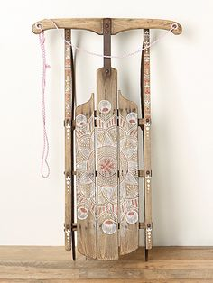 Free People Vintage Sled, $268.00 ........ such a neat idea with an old sled