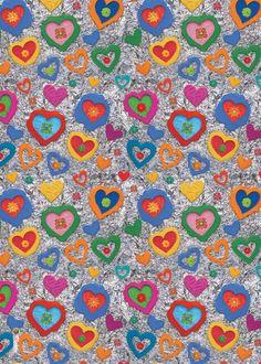 Papel regalo impreso corazones