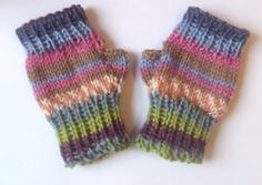 Fingerless girls mittens wristwarmers  2 3 by TheYarnOwlsNest, £7.00