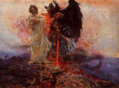 nigra-lux: REPIN, Ilya (1844-1930)Follow me, Satan (Иди за мной, Сатано)1895Ed. Orig.