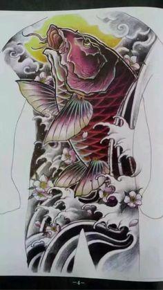 Tiger Tattoo Sleeve, Back Tattoo, Sleeve Tattoos, Koi Tattoo Design, Tattoo Designs, Bio Organic Tattoo, Oriental Tattoo, Japanese Tattoos, Asian Style