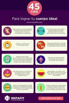 Los mejores tips para lograr perder peso y tener una vida fit. www.instafit.com #fittips #healthy