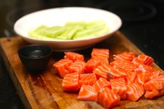 just salmon I Foods, Cantaloupe, Carrots, Salmon, Food Photography, Fruit, Vegetables, Carrot, Vegetable Recipes