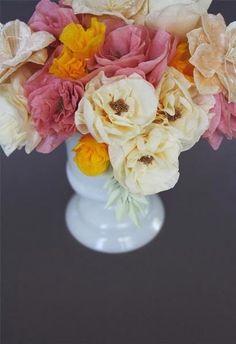 Michelle - Blog #Everlasting #Flowers Fonte : http://www.thebridescafe.com/?postID=805&diy-crepe-paper-flowers