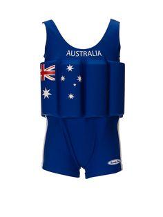 """Traje de banho para menino com proteção, bóia embutida """" Australia"""""""