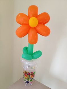 Flower with Lollipops in Cup