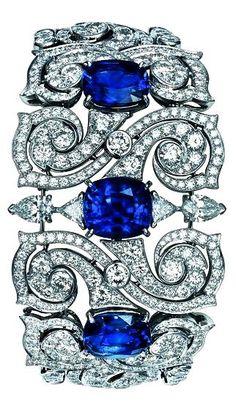 Tendance Bracelets  TS Cartier jewelry bracelet  a little platinum sapphires & diamonds to