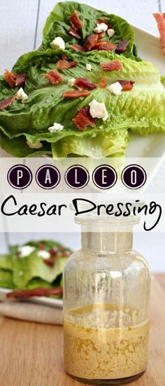 Amazing homemade paleo caesar dressing! Goes well on any salad, and super easy to make. This will become a staple in your kitchen.