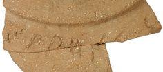 Frammento di vaso rinvenuto nei pressi del Tempio di Gerusalemme, recante un'iscrizione in lingua cananea.  Datata al x sec. a.C, è il più antico testo scritto alfabetico mai scoperto nella città.  http://www.pasthorizonspr.com