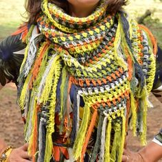 Crochet pattern ByClaire granite stitch shawl