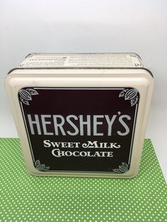 Tin Vintage Hersheys Sweet Milk Chocolate Vintage Edition 1 Square 6 by 6 by 3 Inches Gift Tin