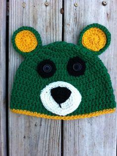 Crocheted #Baylor bear hat! Adorable.