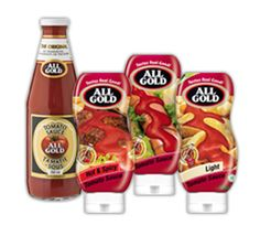 The result. The finest All Gold products that adds extra zest to any meal. Fish And Chips, Tomato Sauce, Hot Dogs, Salsa, Dishes, South Africa, Gold, Smooth, Texture