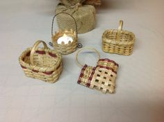 Miniature Hand Woven Baskets Christmas Tree by DiannesBaskets, $24.00