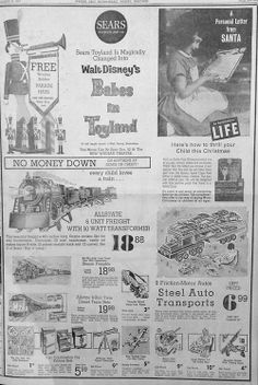 Dec. 2, 1961 - Sears Toyland advertisement.