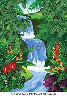 9 best tropical forest clip art images on pinterest tropical rh pinterest com Amazon Rainforest Clip Art Rainforest Animals Clip Art