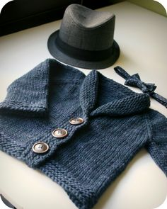 Omi would love this. Sophisticate Cardigan by Linden Down, as knit by Never Not Knitting