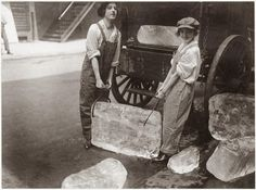Girls Deliver Ice, c1918