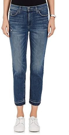 Current/Elliott The High Waist Cropped Straight Jeans Designer Jeans For Women, Barneys New York, Buy Dress, Cropped Jeans, Skinny Jeans, Fashion Design, High Waist, Skinny Fit Jeans, Cut Off Jeans