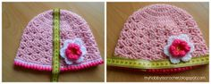 Spring lacy hat for baby girls - Free Pattern& Photo Tutorial Crochet hat lacy shells pattern with no visible seams  1K+ Lacy hat Pattern by...