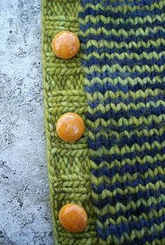 Treeline Striped Cardigan by Purl Soho - Such a cute cardigan, love the buttons!