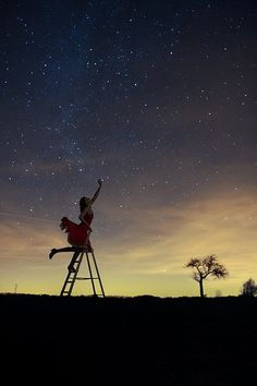 Catching the stars | really nice photo |