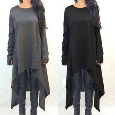 New Autumn Winter Women Dress Long Sleeve Knitted Sweater Dresses Fashion Irregular Hem Maxi Dress Plus Size S-3XL Vestidos -- Visit the image link more details.