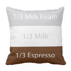 Recipe cappuccino Coffee | Text design Throw Pillow - coffee custom unique special
