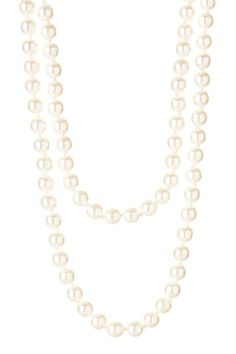 """Stunning & Versatile $32.00 Think """"Downton Abbey"""" Style   Opera Length Hand Knotted Pearl Necklace by Day to Night: Jewelry Event on @HauteLook"""
