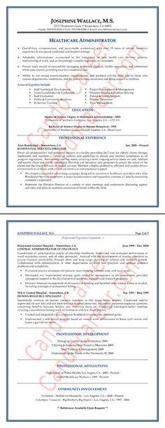 Healthcare Administration Resume by Mia C Coleman velmau0027s pics - healthcare resume