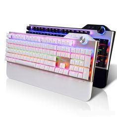 67.99$  Know more  - Wired Ajazz AK35 Mixed LED Backlit Illuminated Mechanical Keyboard 104 Keys USB Ergonomic Gaming Keyboard Gamer Laptop Computer
