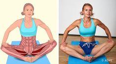 18изображений, которые наглядно покажут, какие мышцы вырастягиваете