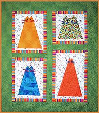 Fat Cats Quilt  So cute and an easy project. Great for using up the scraps in my fabric stash.