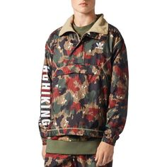 quality design 15521 78bb3 adidas Originals x Pharrell Williams Hu Hiking Camouflage Quarter-Zip...  (100