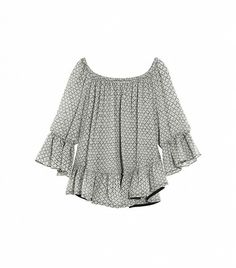 Adriana Printed Silk-Georgette Blouse by Isabel Marant. Love this flowy and flirty top.