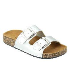 Loving this Silver Glory Slip On Sandal on #zulily! #zulilyfinds