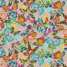 Missoni Home Vanessa 10190 wallpaper features a multitude of butterflies making up a colourful pattern on a subtle, metallic chevron background. Wallpaper Panels, Painting Wallpaper, Home Wallpaper, Stunning Wallpapers, Light Blue Background, Missoni, Wall Collage, Color Patterns, Poppies