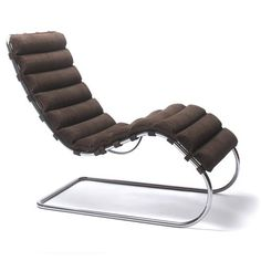 Tugendhat chair 1929 - Ludwig Mies Van Der Rohe - I really like the shape of this lounge chair and how it looks like its floating almost.  Like the Barcelona chair, the Tugendhat chair has a large padded leather seat and back