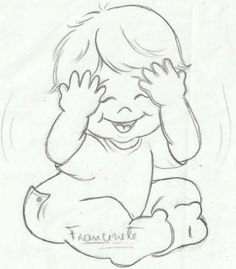 Embroidery Pattern of Giggle Baby. jwt
