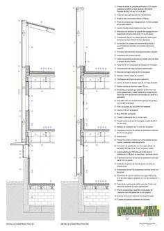 Detalles constructivos de la fachada, Guardería Xiroi por Espinet/Ubach arquitectes.