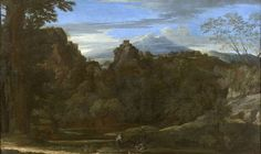 Landscape with Three Monks - Nicolas Poussin. Oil on canvas. 117 x 193 cm. Beli Dvor (The White Palace), Belgrade, Serbia. Rome Travel, His Travel, Poussin Nicolas, Seven Sacraments, Classical Antiquity, Religious Paintings, Louvre, Expositions, French Art