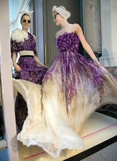 """""""Giambattista Valli played with tulle and dense floral embroidery."""" -  Paris Couture Review: Chanel, Dior, Armani Privé and More - NYTimes.com"""