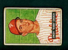 Vintage 1951 Bowman  149 Emory Bubba Church by COLLECTORSZONE