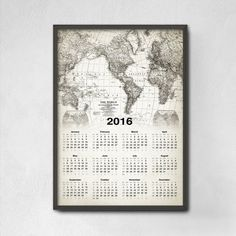 Antique World Map Calendar 2017 World Map World by QuantumPrints – Dorm room ideas Antique World Map, Vintage World Maps, Christmas Gifts, Etsy, Antiques, Handmade Gifts, Prints, Organising Ideas, Bedroom Apartment