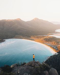 From a winters morning above Wineglass Bay...