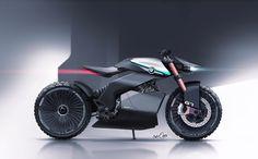 BMW Scrambler Concept on Behance car and motorcycle design Futuristic Robot, Futuristic Motorcycle, Futuristic Vehicles, Concept Motorcycles, Bmw Motorcycles, Moto Bike, Motorcycle Bike, Robot Concept Art, Concept Cars