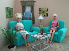 Barbies tropical living room