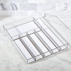 Madesmart ® Clear Drawer Organizer - Crate and Barrel Plastic Drawer Organizer, Drawer Organisers, Food Storage Containers, Storage Baskets, Kitchen Organization, Kitchen Storage, Organizing, Crate And Barrel, Plastic Crates